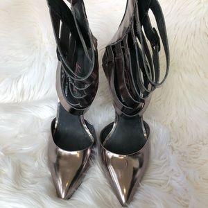 Steve Madden Shoes - Steve Madden Keyshia Cole Gunmetal Heels Size 10